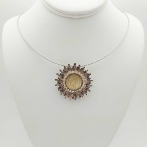 Item 101SP Silver Sunflower pendant
