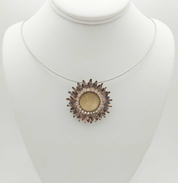Item 101SP Silver Sunflower pendant