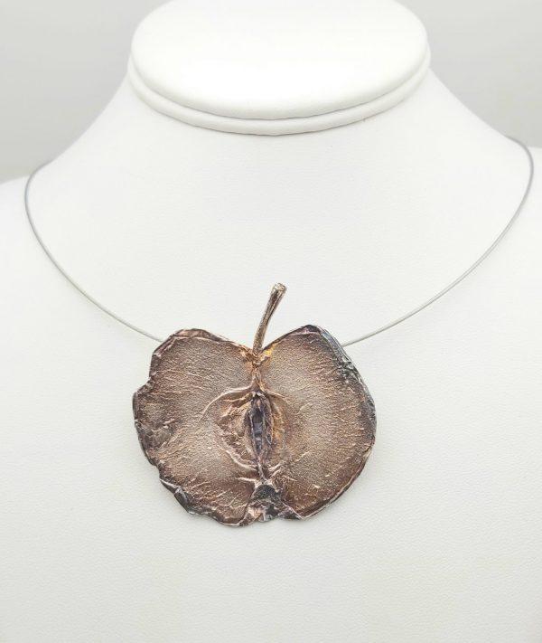 Item 102SP Silver Apple pendant