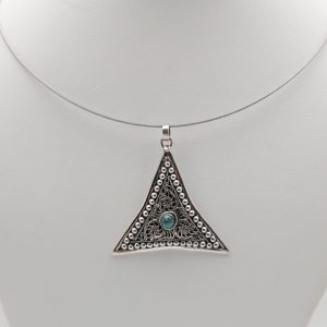 Item 103SP Silver Triangle pendant