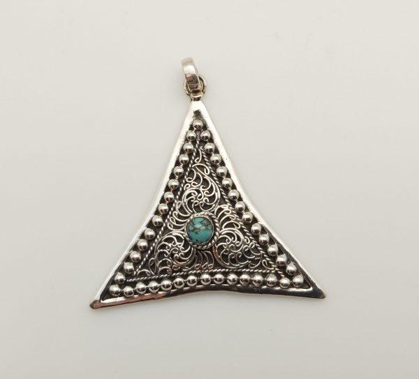 Item 103SP Silver Triangle pendant