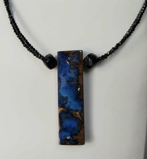 Item 106NS Spinel multi strand with Boulder Opal