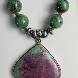 Item 107NR Ruby in Zoisite