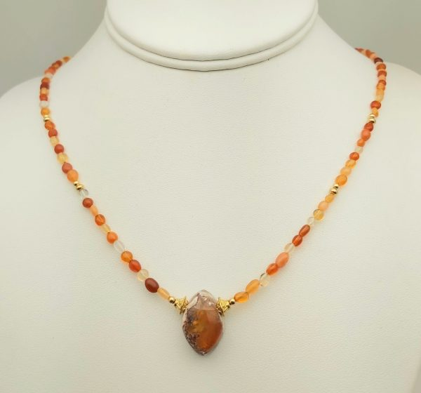 Item 118NF Fire Opal with Pendant