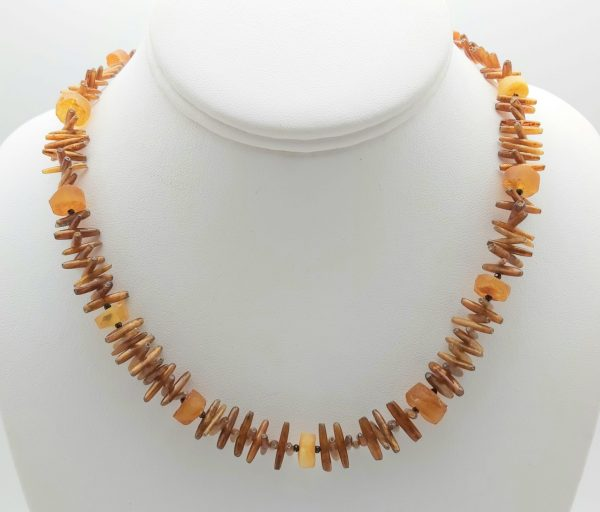 Item 119NC Golden Coral with Amber