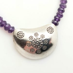 Item 121NA Amethyst with Silver Pendant
