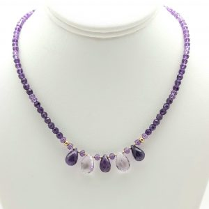 Item 124NA Amethyst with drops