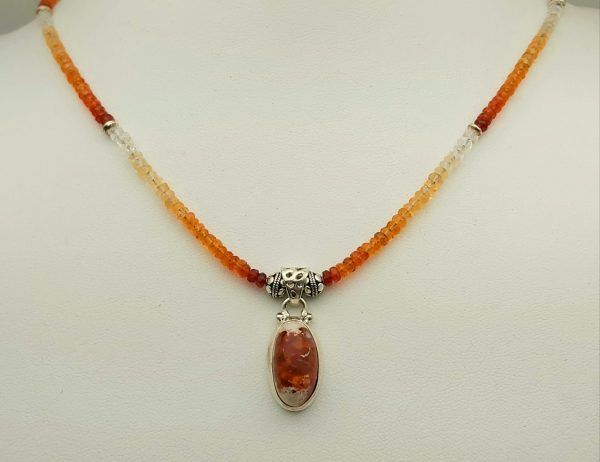 Item 127NF Fire Opal with Pendant