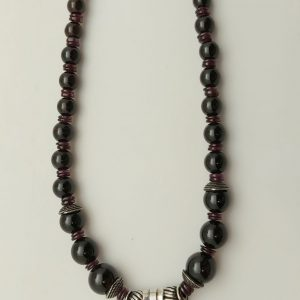 Item 129NG Garnet with Pendant