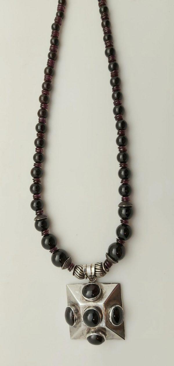 Item 129NG Garnet with Pendant