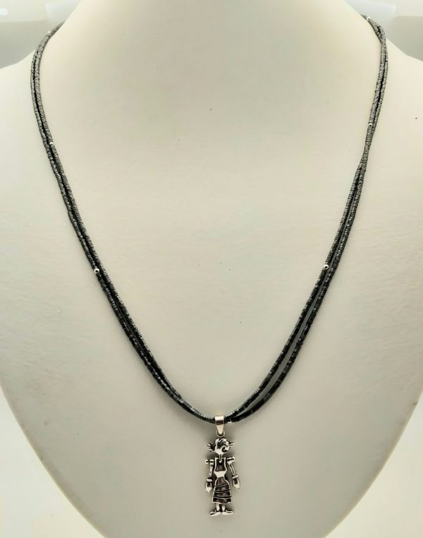 Item 131NH Hematite with Silver Pendant
