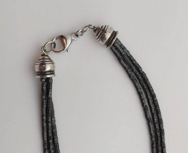 Item 132NH Hematite with Oxidized Silver Pendant