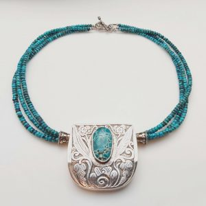 Item 184NT Turquoise with Silver pendant