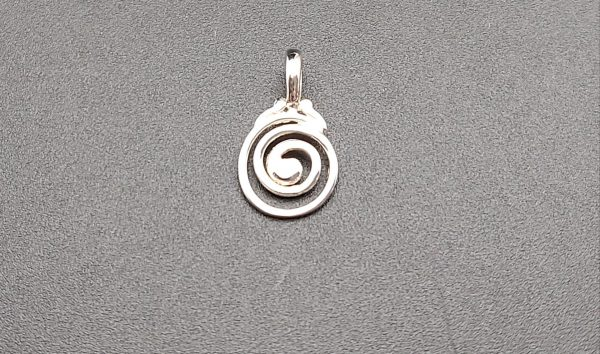 Item 108SP little swirl pendant