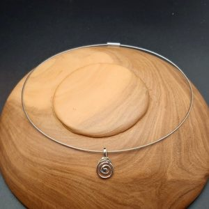 Item 108SP little swirl pendant