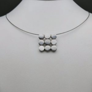 "Item 111SP ""Rounds square"" pendant"
