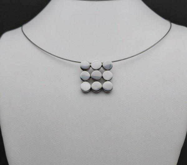 """Item 111SP """"Rounds square"""" pendant"""