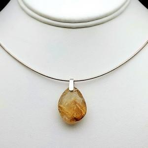 Item 150PG Gold rutilated Quartz