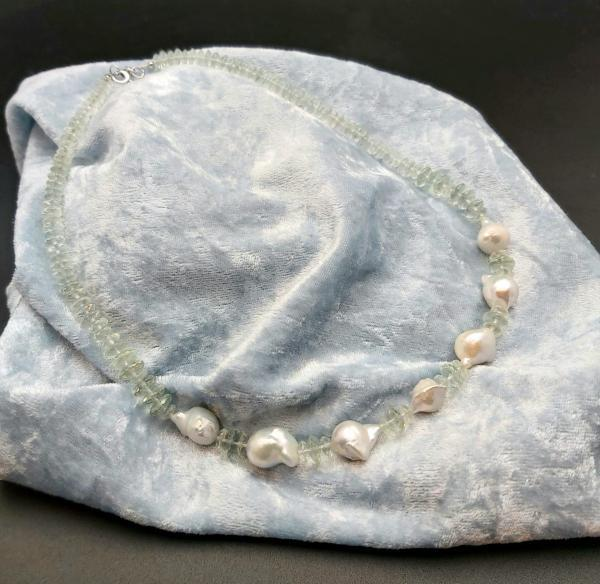 Item 369NA Green Amethyst with Freshwater Pearl