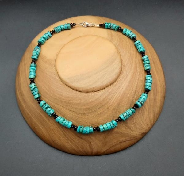 Item 375NT Turquoise with black Onyx