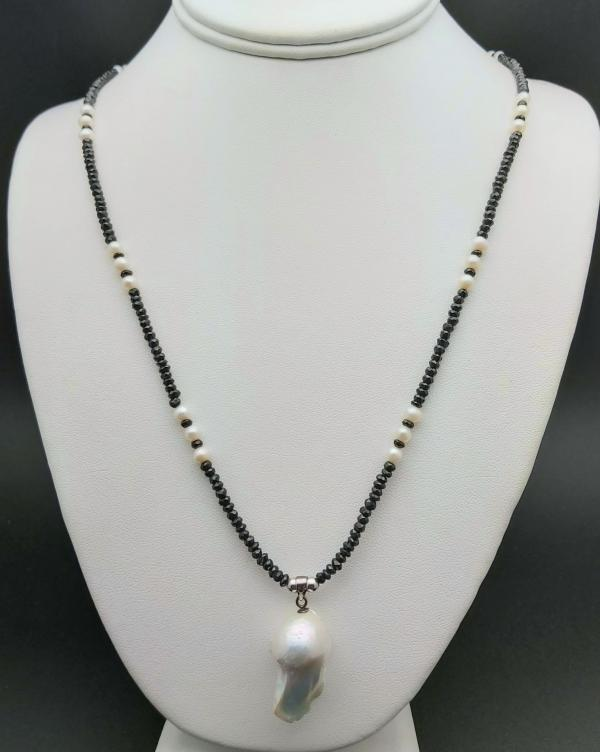 Item 376NS Spinel with Freshwater Pearl