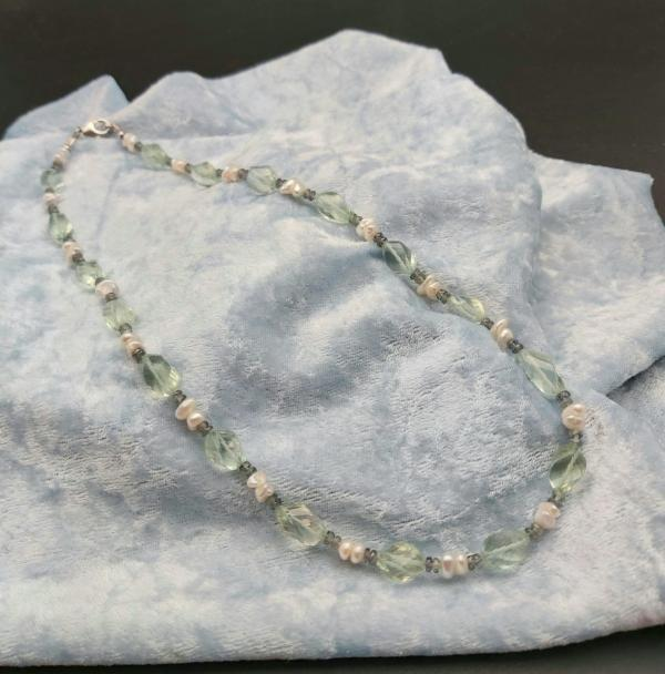 Item 383NA Green Amethyst with Freshwater Pearl