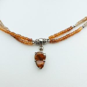 Item 388NS Corundum Sapphire with Fire Agate