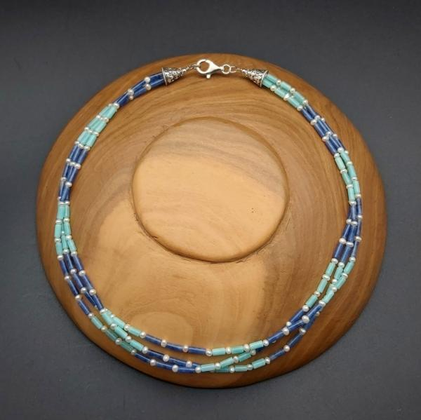 Item 398NA Amazonite/Sodalite/Freshwater Pearl
